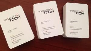 Tarjetas visita Encuentros Tech